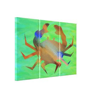 Pop Art Crab Stretched Canvas Print