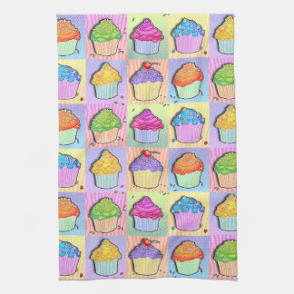 Pop Art CUPCAKES Kitchen TOWEL