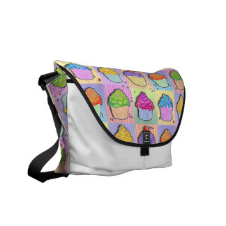 Pop Art CUPCAKES MESSENGER BAG