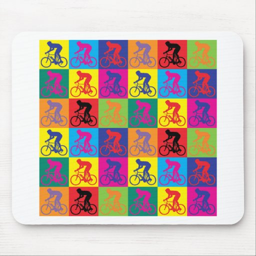 Pop Art Cycling Mouse Pads