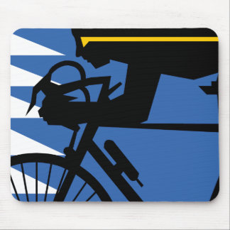 Pop Art Cyclist Mouse Pad