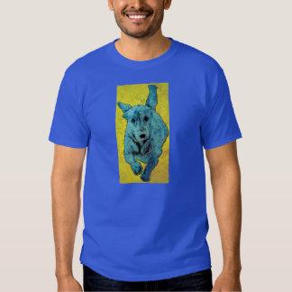 Pop Art Dachshund Running Grunge Tshirts