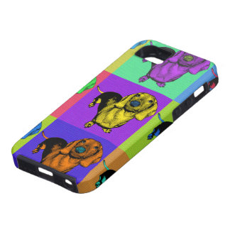 Pop Art Dachsund Doxie Panels Multi-Color Popart Case For The iPhone 5