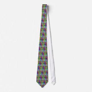 Pop Art Dachsund Doxie Panels Multi-Color Popart Tie
