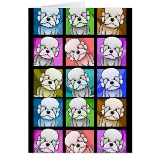 Pop Art Dandie Dinmont Terrier Card