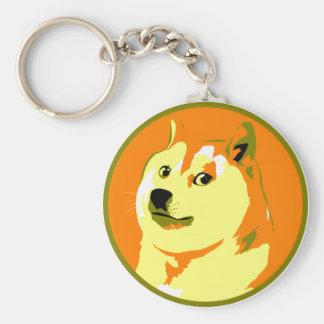 Pop Art dogecoin design Basic Round Button Key Ring