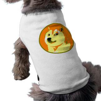 Pop Art dogecoin design Sleeveless Dog Shirt