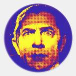 Pop Art Dracula Round Stickers