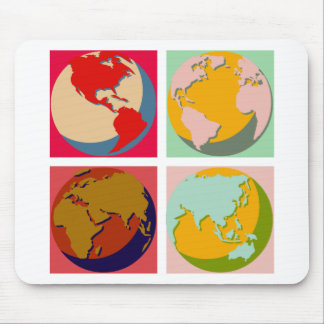 Pop Art Earth Mouse Mat