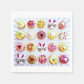 Pop Art Easter Cupcakes Disposable Serviettes