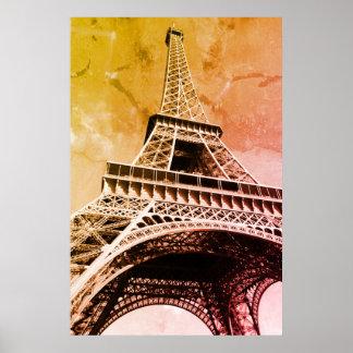 Pop Art Eiffel Tower Paris Romance City Poster