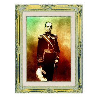 Pop art El Rey Alfonso XIII de Espana Postcard