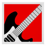 Pop Art Electric Guitar Poster