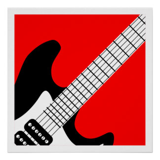 Pop Art Electric Guitar Poster