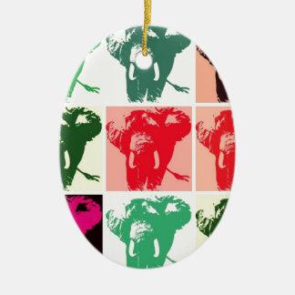 Pop Art Elephants Christmas Tree Ornament