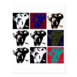 Pop Art Elephants Postcard