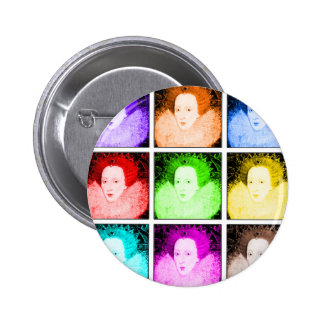 Pop Art Elizabeth I 6 Cm Round Badge