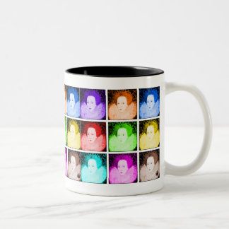 Pop Art Elizabeth I Two-Tone Coffee Mug