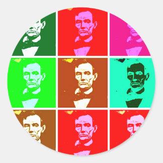 Pop Art .esque Abraham Lincoln Sticker