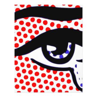 Pop Art Eye 21.5 Cm X 28 Cm Flyer