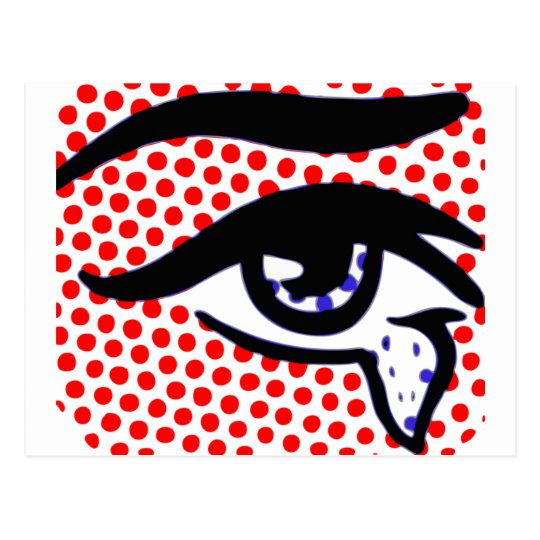 Pop Art Eye Postcard