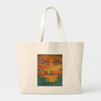 Pop Art face Blue Lips Big Eyes unique Tote Bag