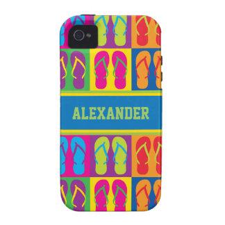 Pop Art Flip Flops iPhone 4/4S Covers