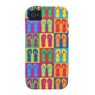 Pop Art Flip Flops iPhone 4/4S Case