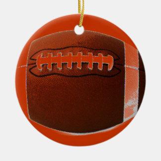 Pop Art Football Christmas Ornament