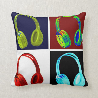 Pop Art Four Colors Head phone Cushion