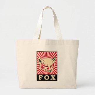 Pop Art Fox Large Tote Bag