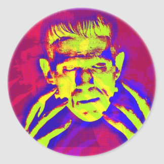Pop Art Frankenstein Classic Round Sticker