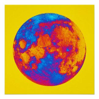 Pop Art Full Moon Poster