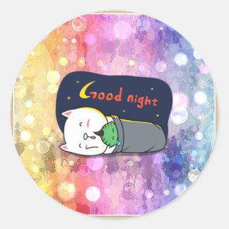 Pop art, fun, happy,girly,anime,colorful art,glitz round sticker