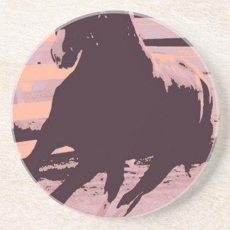 Pop Art Galloping Horse Beverage Coaster