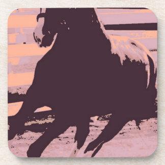 Pop Art Galloping Horse Drink Coasters