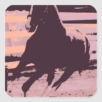 Pop Art Galloping Horse Square Sticker