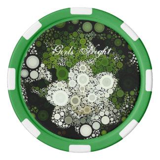 Pop Art Gardenia Girl' Night Poker Chip