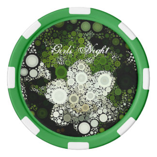 Pop Art Gardenia Girl' Night Poker Chip Set Of Poker Chips
