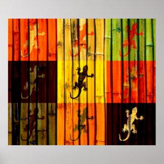 Pop Art Geckos Poster