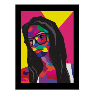 pop art girl poster