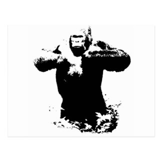 Pop Art Gorilla Beating Chest Postcard