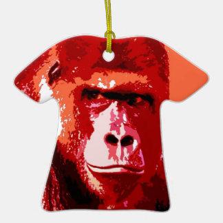 Pop Art Gorilla Christmas Tree Ornaments