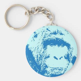 Pop Art Gorilla Faces Key Chains