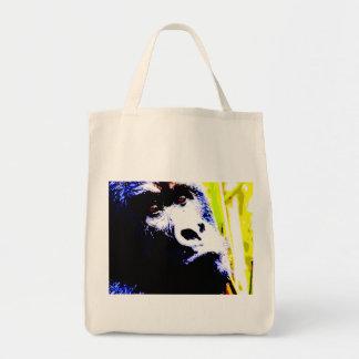 Pop Art Gorilla Grocery Tote Bag