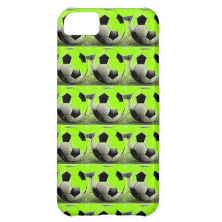Pop Art Green Soccer Balls iPhone 5C Cover