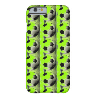 Pop Art Green Soccer Balls iPhone 6 Case Barely There iPhone 6 Case