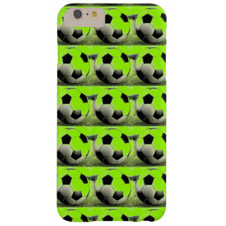 Pop Art Green Soccer Balls iPhone 6 Plus Case