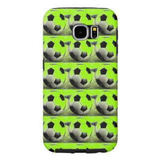 Pop Art Green Soccer Balls Samsung Galaxy S6 Cases