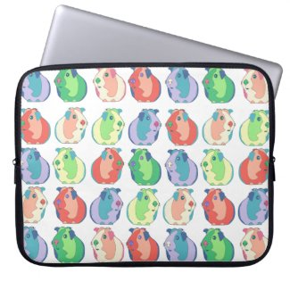 Pop Art Guinea Pig Pattern Laptop Sleeve